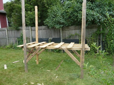 How to build a pallet fort just b cause for Wood pallet fort