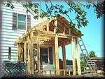 Building our new back porch. This porch was built the same way they were 50 years ago. Click here to find out why.