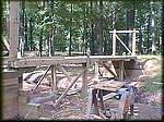 Visit Lonnie Hedgepeth's Covered Bridge that is being built for his live steam train.